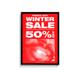 Def Store Winter ODB Sale Poster - A3