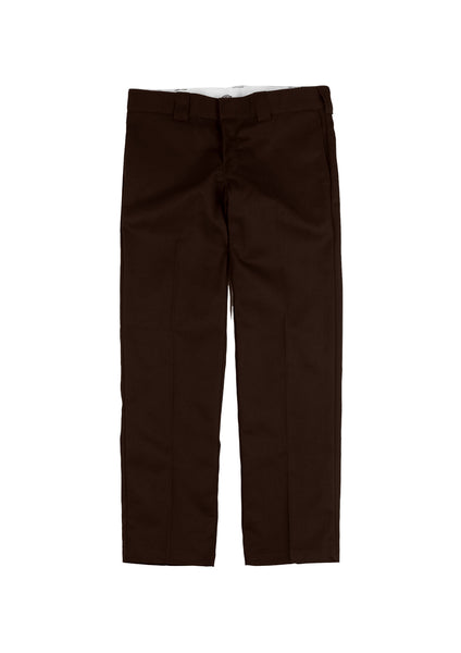 Dickies 873 Slim Straight Fit Work Pants - Chocolate Brown (F)