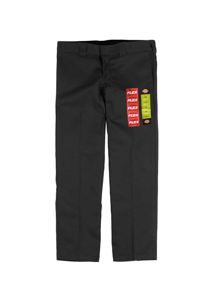 Dickies 873 Flex Slim Straight Fit Work Pants - Black (D)