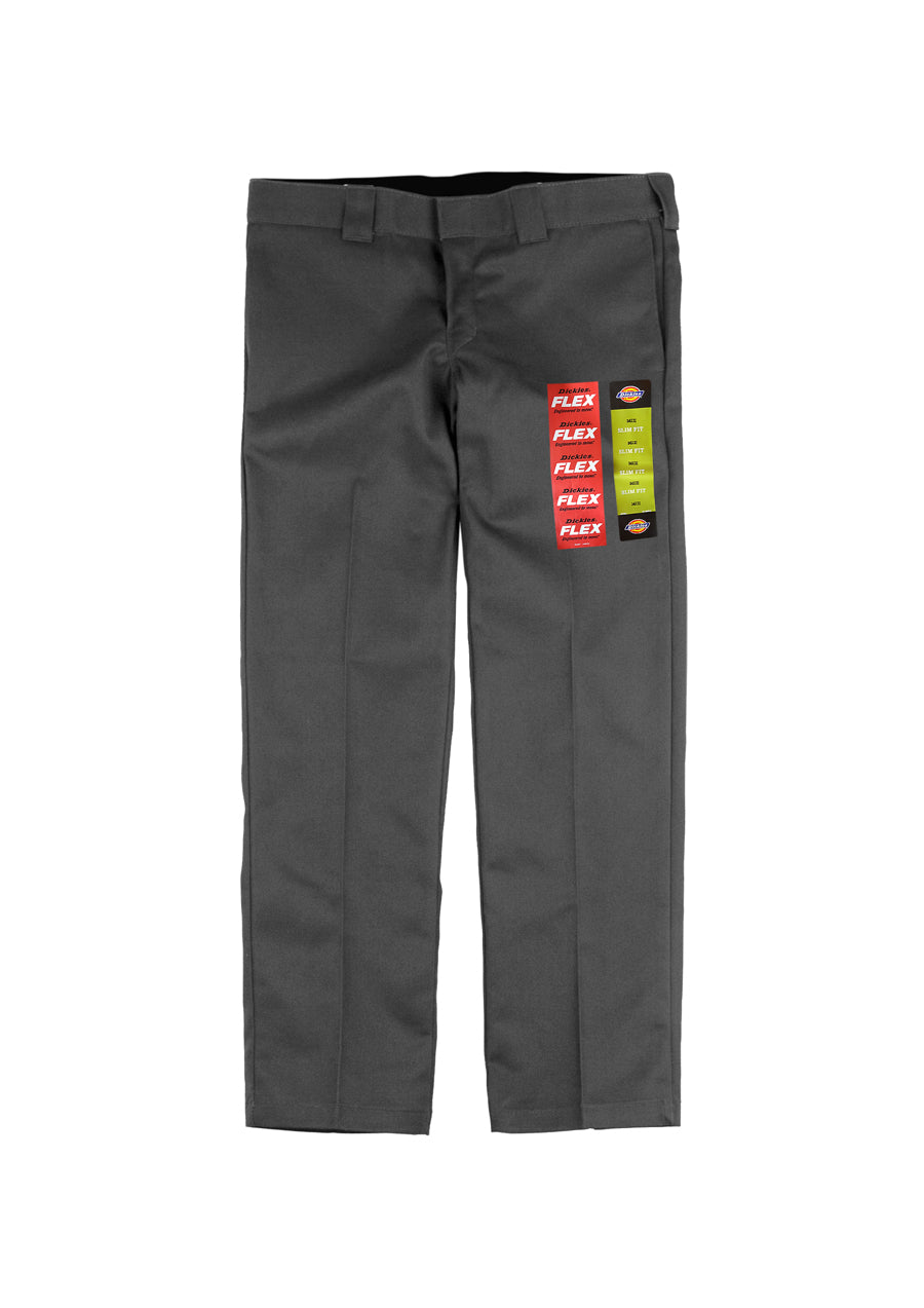 Dickies 873 Flex Slim Straight Fit Work Pants - Charcoal (D)