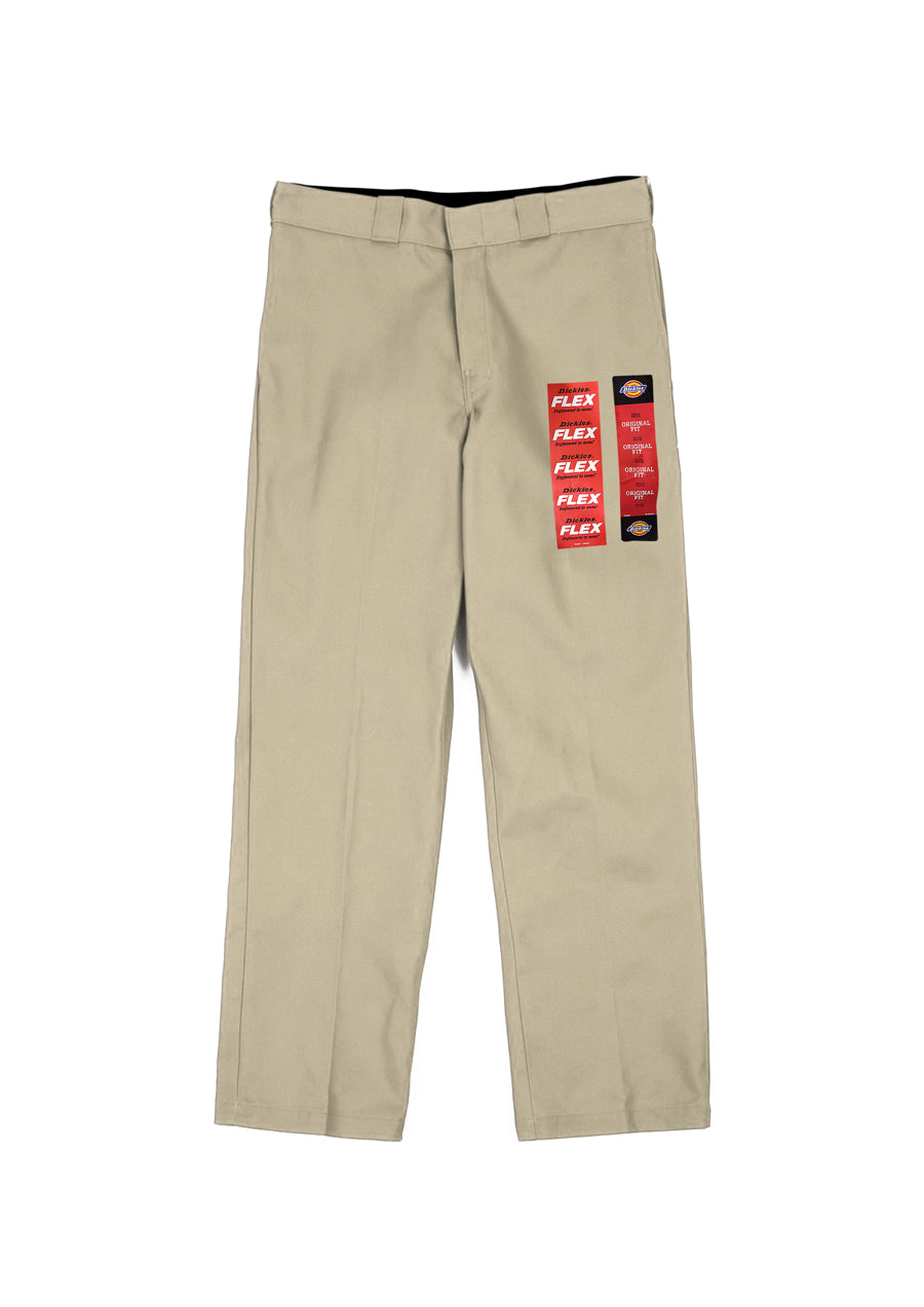 Dickies 874 Original Flex Relaxed Straight Fit Work Pants - Khaki (D)
