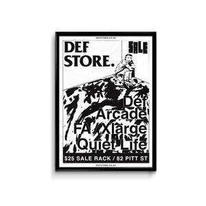 Def Store Flag Sale Poster - A3