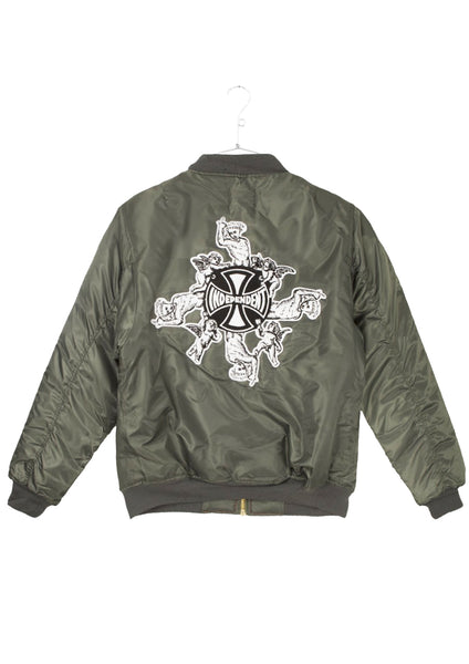 FA x Indy Angel Bomber Jacket - Green (B1)