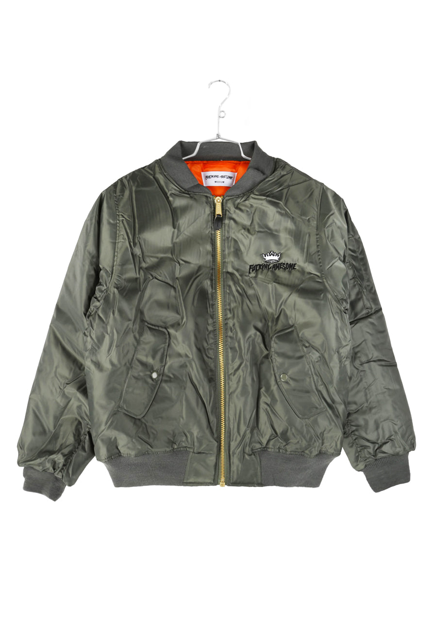 FA x Indy Angel Bomber Jacket - Green  (B)