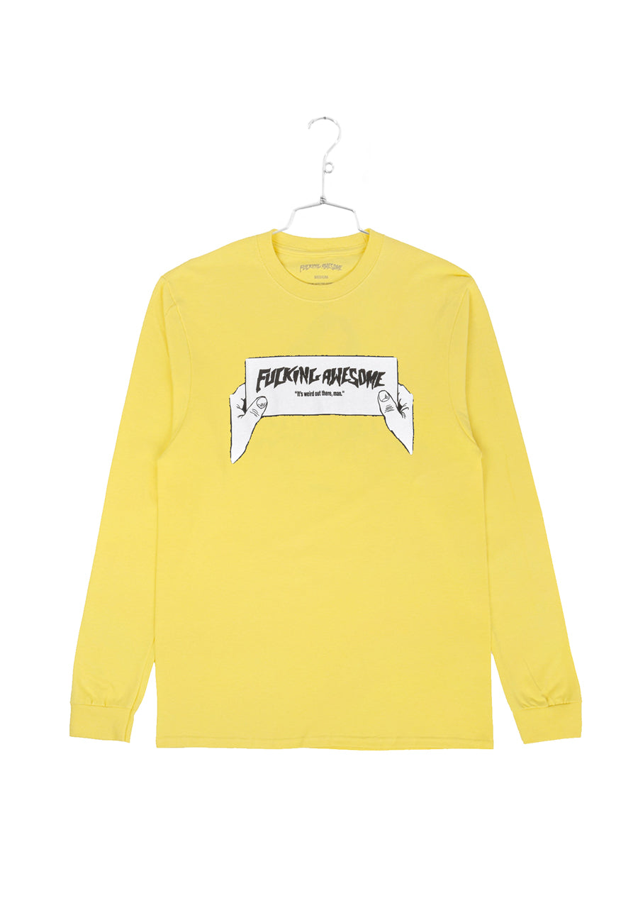 FA Weird Out There Longsleeve Tee - Yellow (B)
