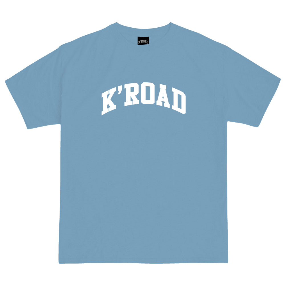 K'ROAD Arch Tee - Carolina Blue/White