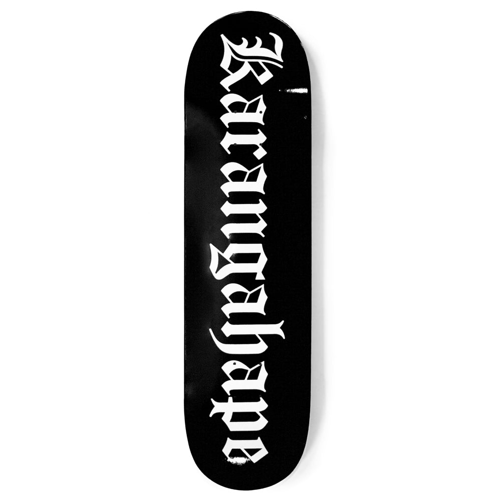 Karangahape Heritage Text Black Deck - 4 Sizes