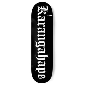 K'ROAD Heritage Text Black Deck - 3 Sizes