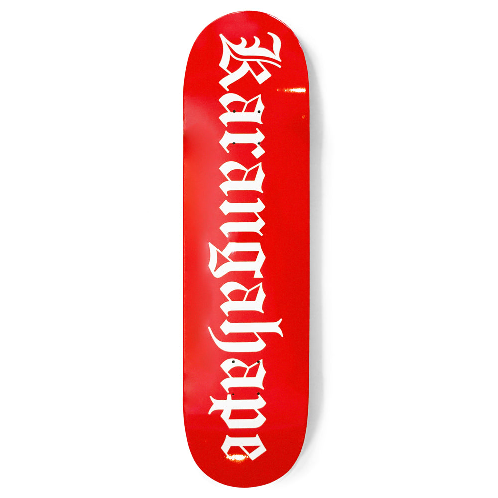Karangahape Heritage Text Red Deck - 4 Sizes