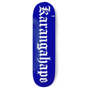 Karangahape Heritage Text Royal Blue Deck - 4 Sizes