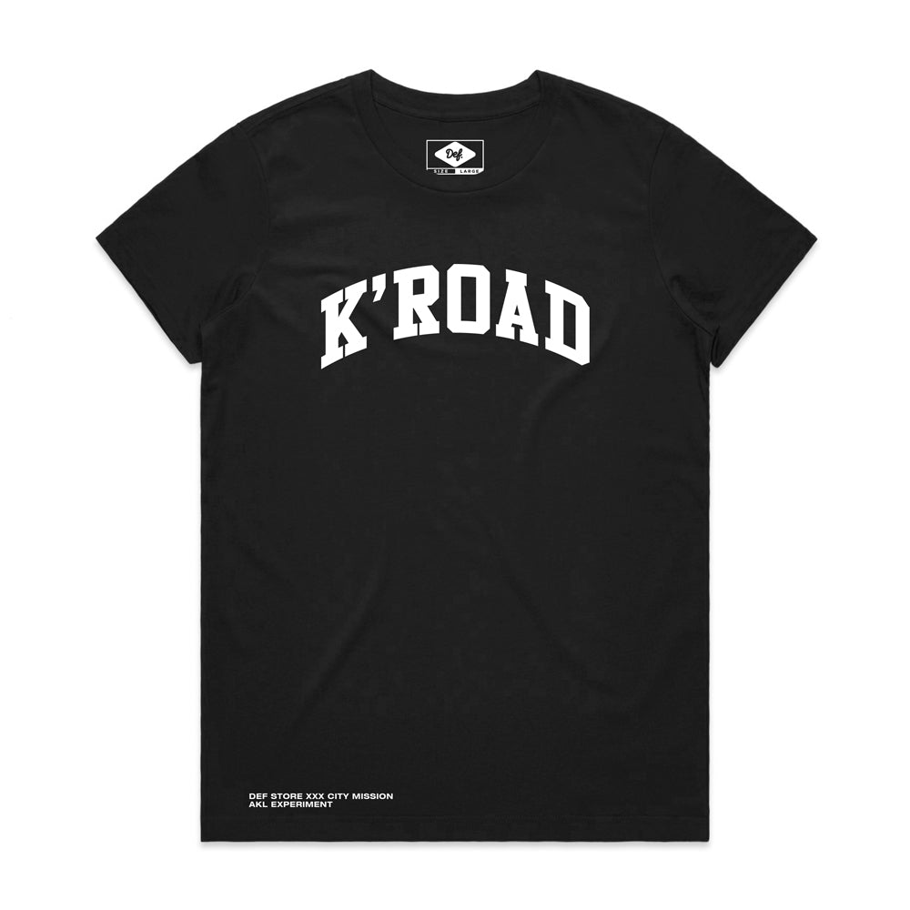 K'ROAD WOMENS Arch Tee - Black (C1)