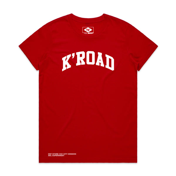 K'ROAD WOMENS Arch Tee - Red (C1)