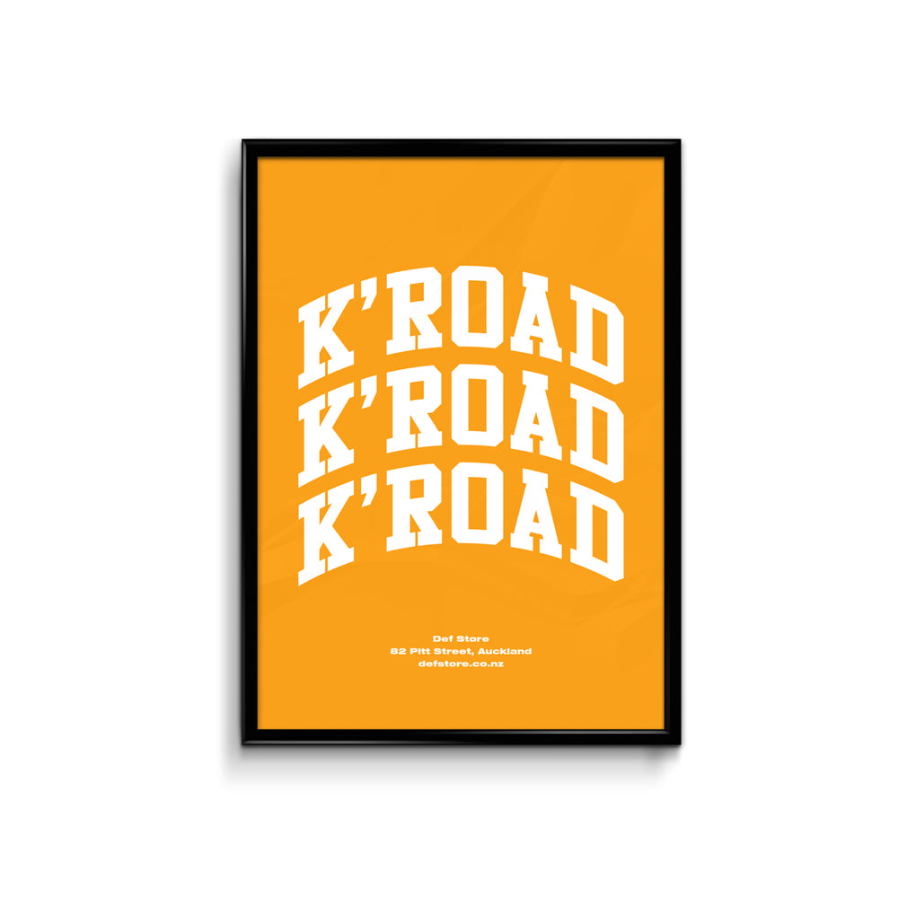 Def Store K'Road Arch Poster - A3 Gold