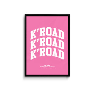 Def Store K'Road Arch Poster - A3 Pink