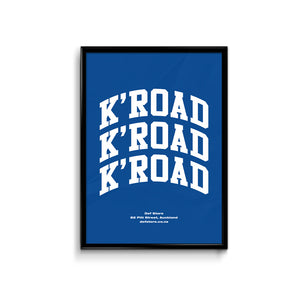 Def Store K'Road Arch Poster - A3 Royal Blue