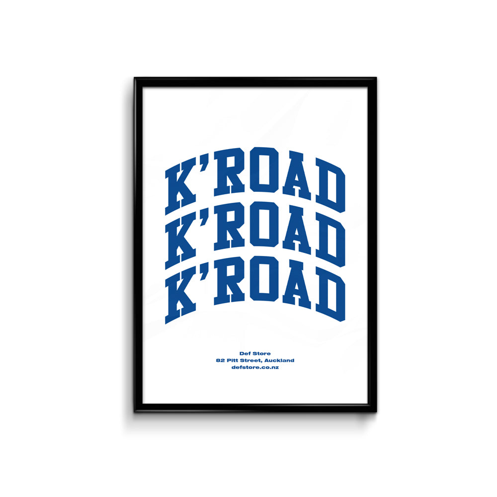 Def Store K'Road Arch Poster - A3 White (Pre-order)