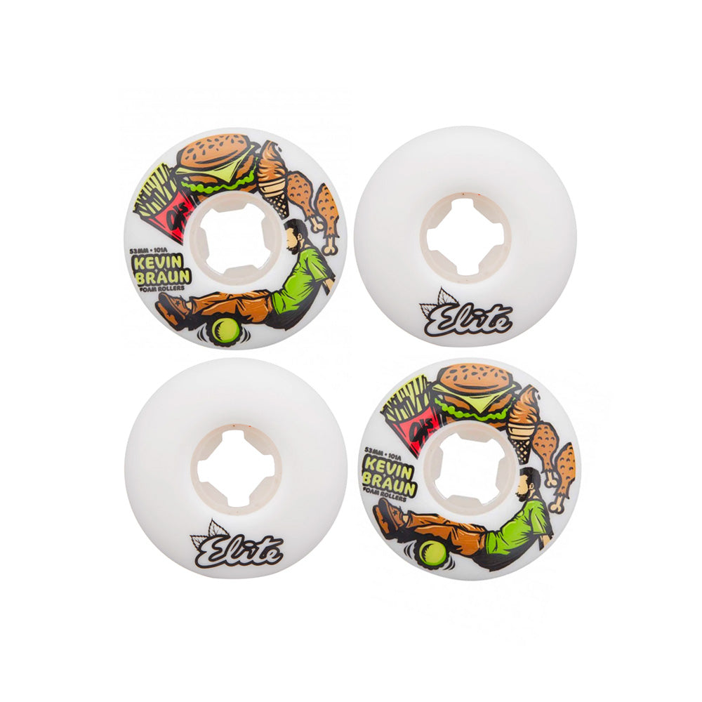 OJ Kevin Braun Form Rollers Elite EZ Edge 101a Skate Wheels - 53mm