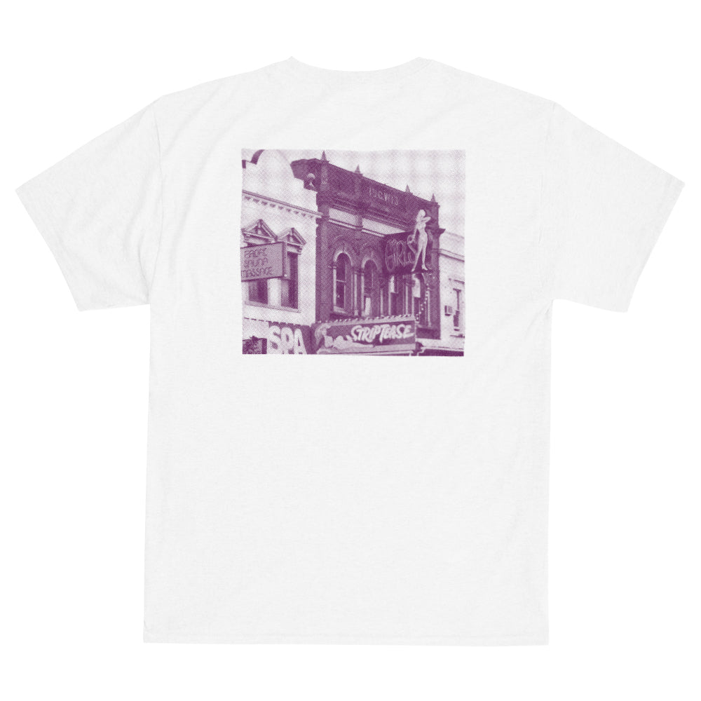 Def Store Pink Pussy Cat Tee - White