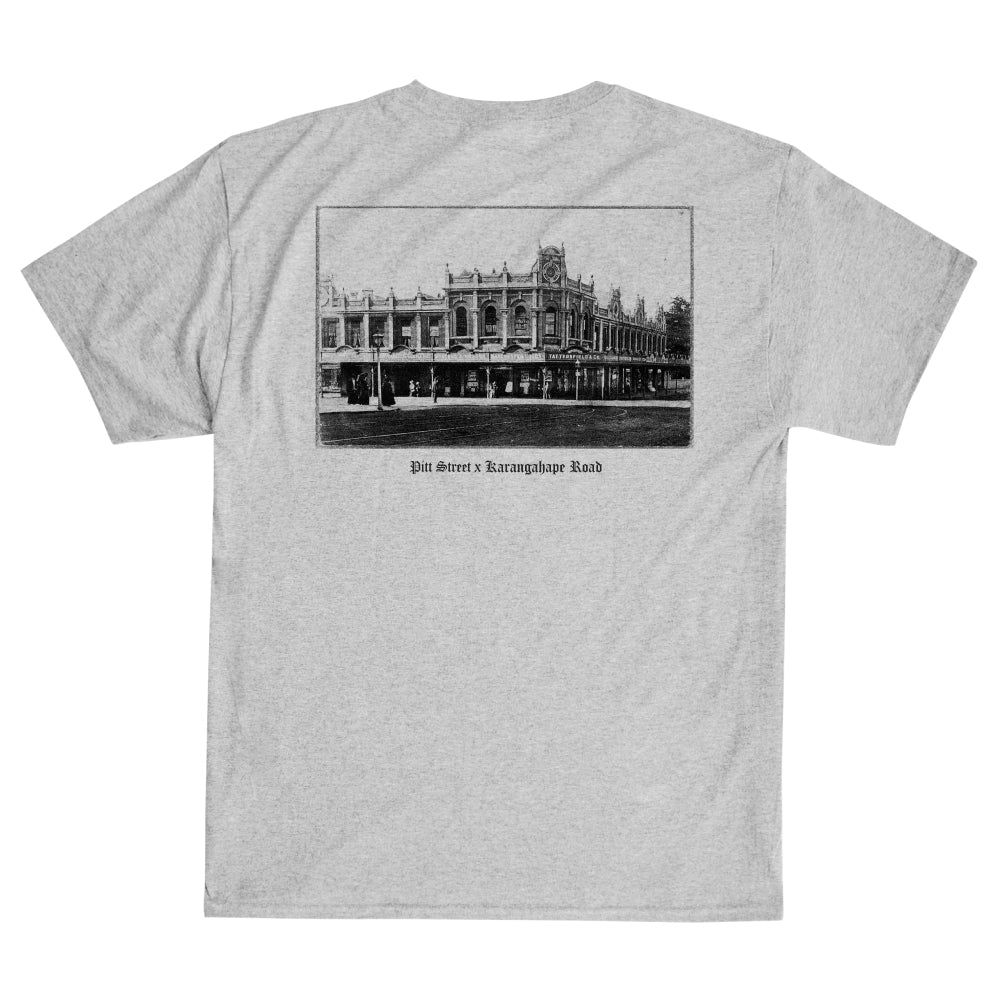 PITT ST x K'ROAD Heritage Tee - Heather Grey (A2)