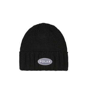 Polar Patch Beanie - Black