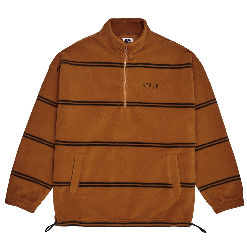 Polar Striped Fleece Pullover - Caramel