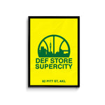 Def Store Supercity Poster - A3 (Pre-order)