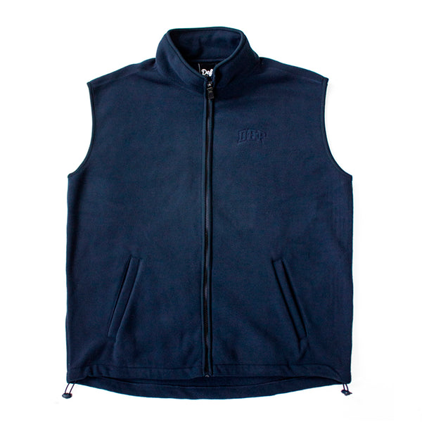 Def Super Polar Fleece Vest Tee - Navy