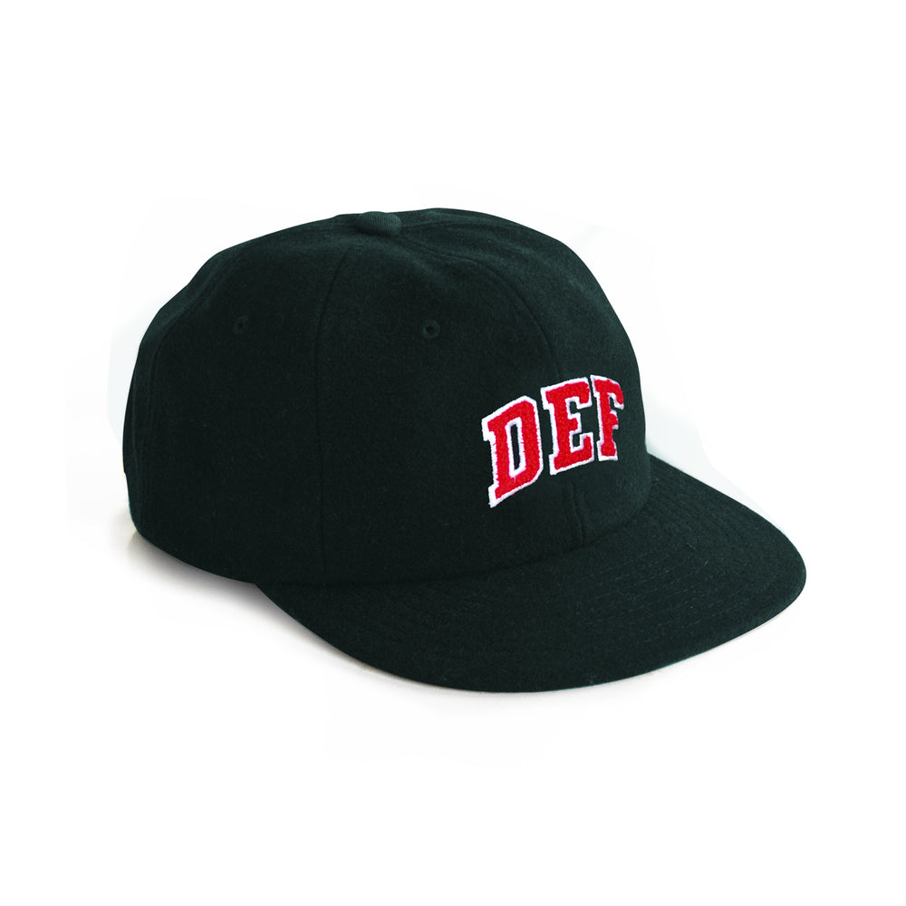 Def Super Wool Baseball Cap - Bottle Green