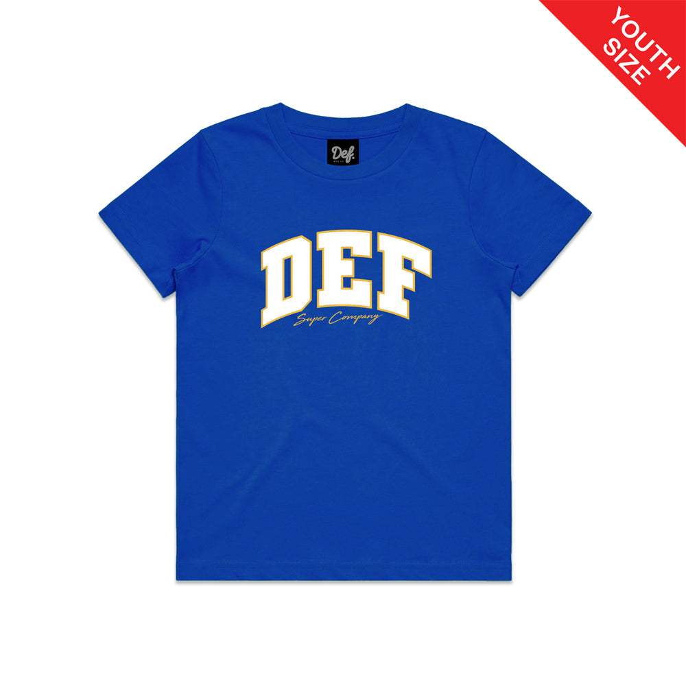 Def Super YOUTH Tee - Royal Blue