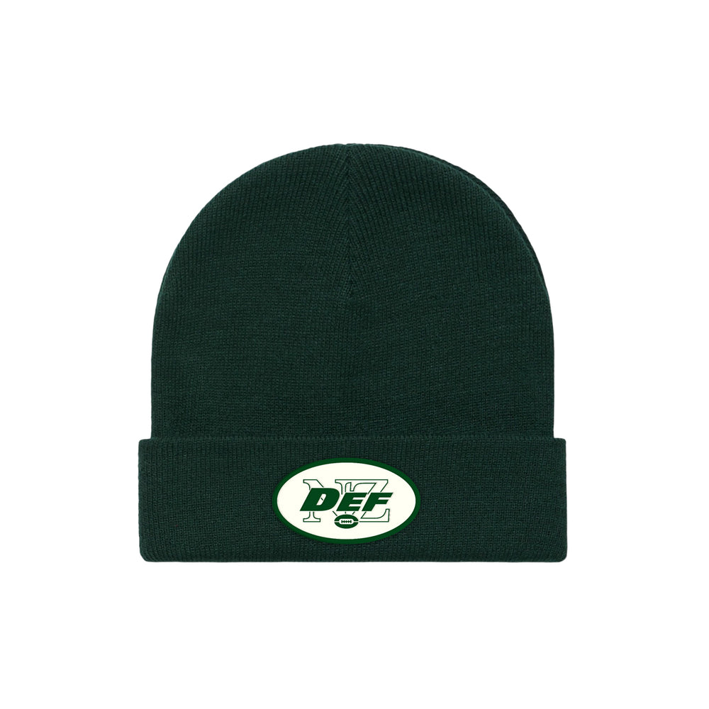 Def Superbowl Appliqué Beanie - Forest Green