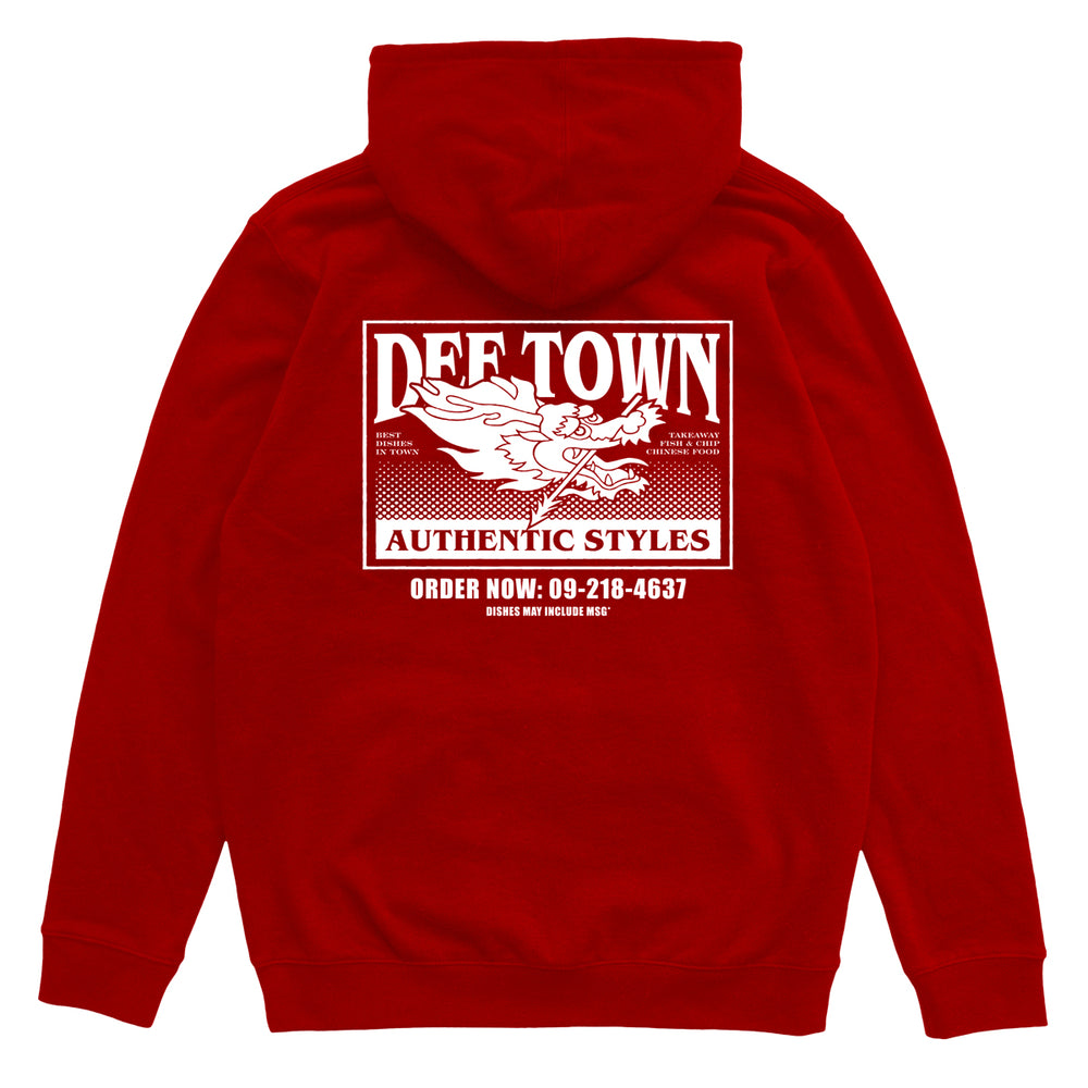 Def Takeaway Hood - Red (Heavy-Weight)