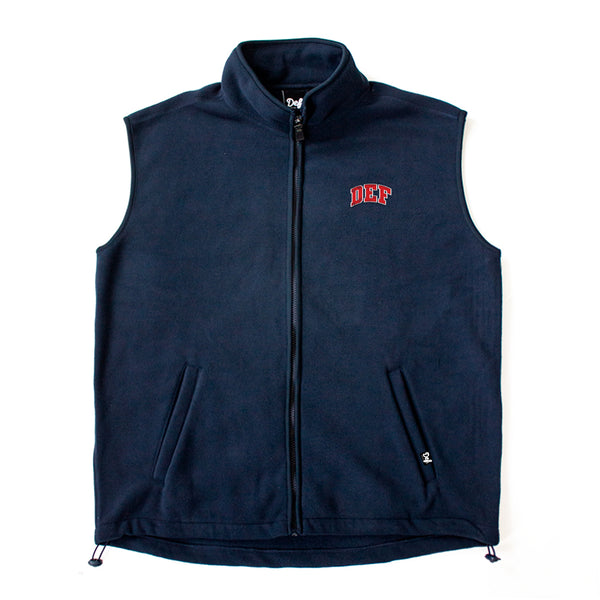 Def Two Tone Super Polar Fleece Vest Tee - Navy (A1)