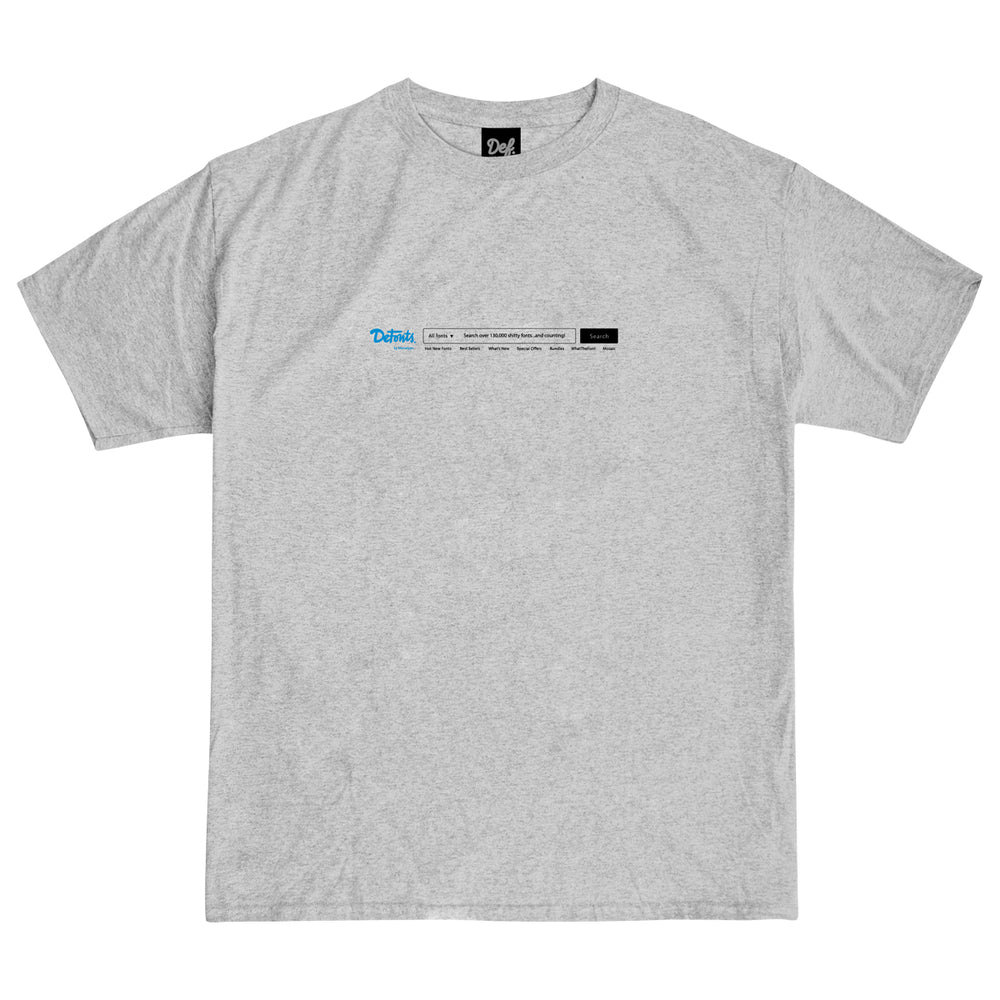 Load image into Gallery viewer, Def Typeface Tee - Heather Grey