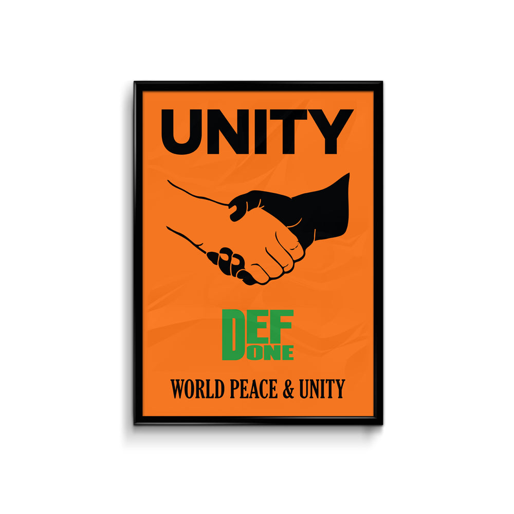 Def We Unite Orange Poster - A3