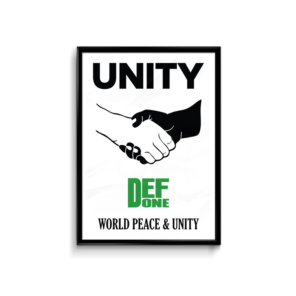 Def We Unite White Poster - A3