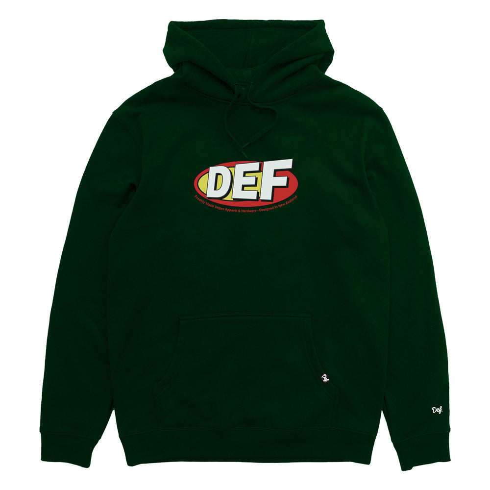 Def Vegan Hood - Forest Green (Mid-Weight)
