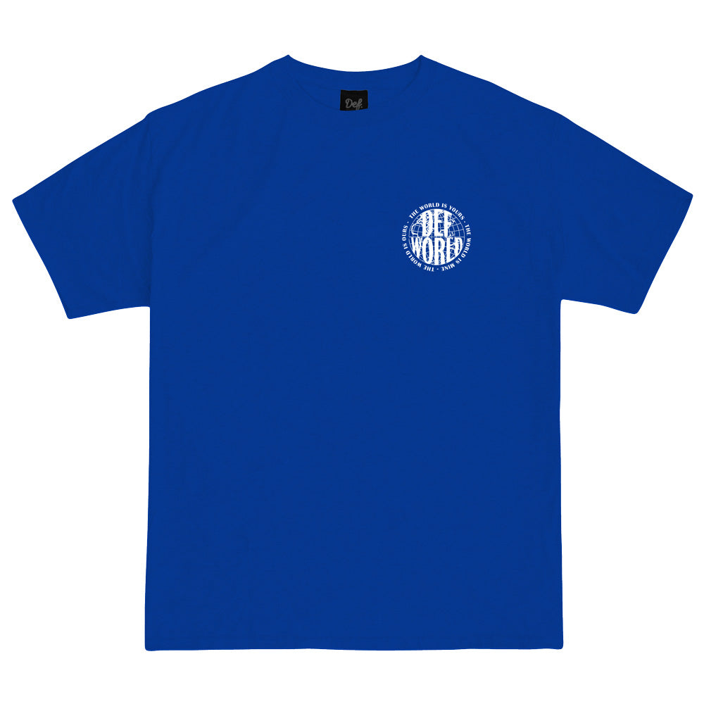 Def World Is Yours Tee - Royal Blue