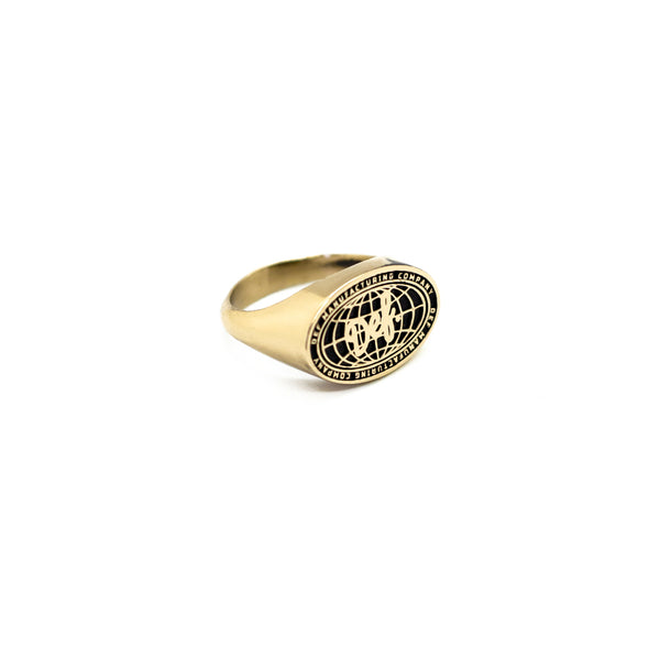 Def World Embossed Ring - Brass