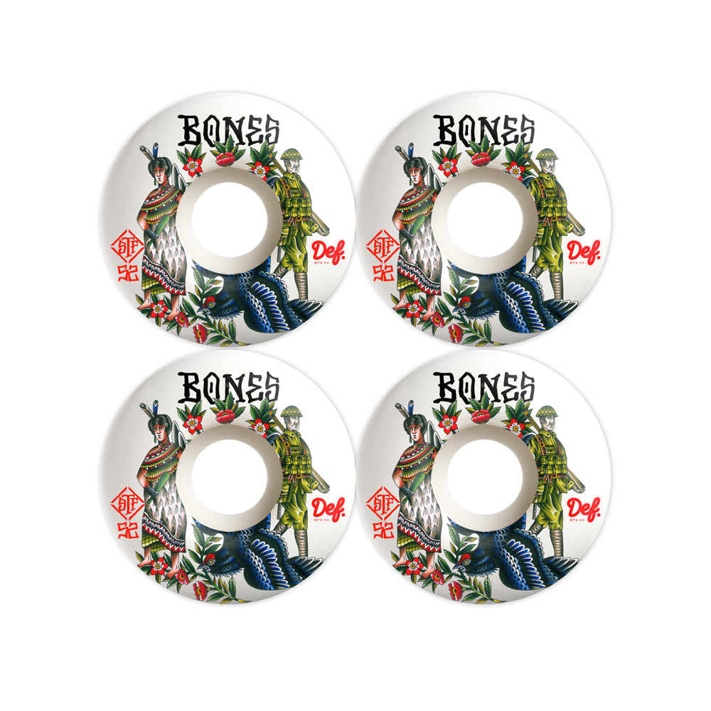 Def x Bones 'Descendant Of' V3 STF Skate Wheels - 52mm
