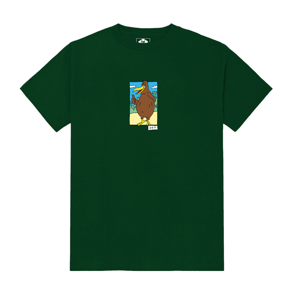 Def x Smiddy Native Bird Tee - Forest Green