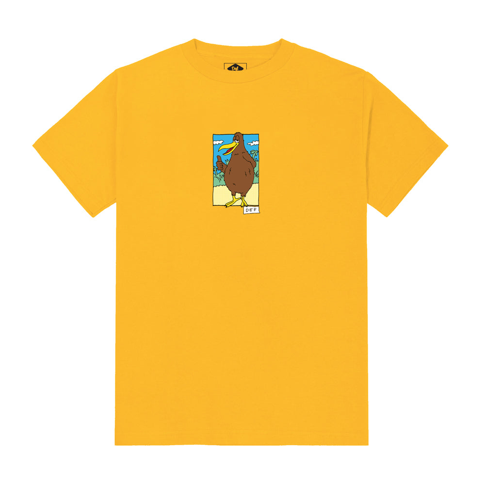 Def x Smiddy Native Bird Tee - Gold