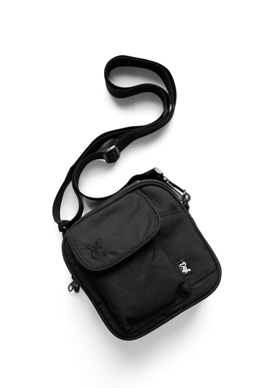 Def x Vic Apparel Side Bag - Black/Black