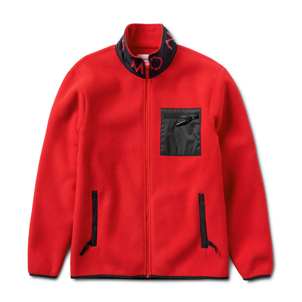 Diamond Marquise Polar Fleece - Red/Navy