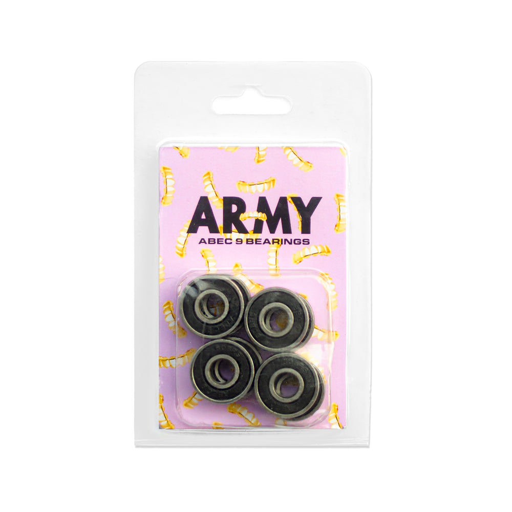 Grill Army Abec 9 Skate Bearings - Black