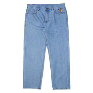 Grill Army Nutjob Relaxed Straight Fit Denim - Light Blue