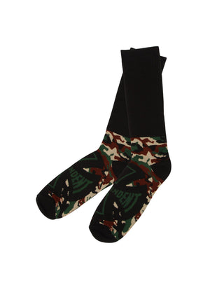 Independent Concealed Crew Socks - Camo / Black