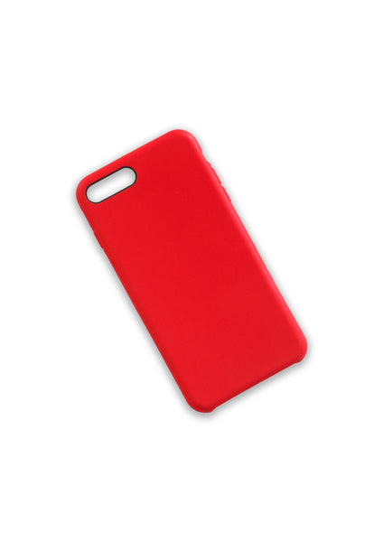 Iphone 7+ Soft TPU Rubber Case - Red