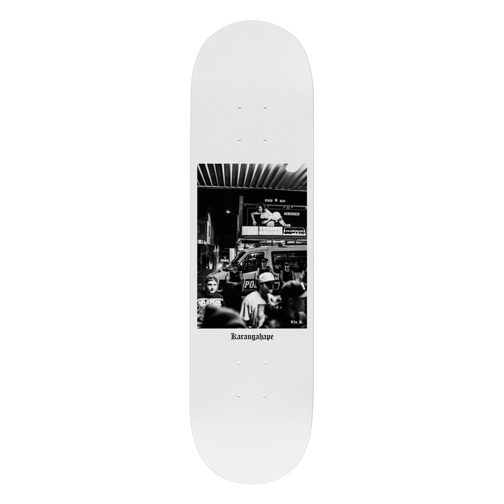Load image into Gallery viewer, K'Road x Tim D Vegas Deep Skateboard Deck - White