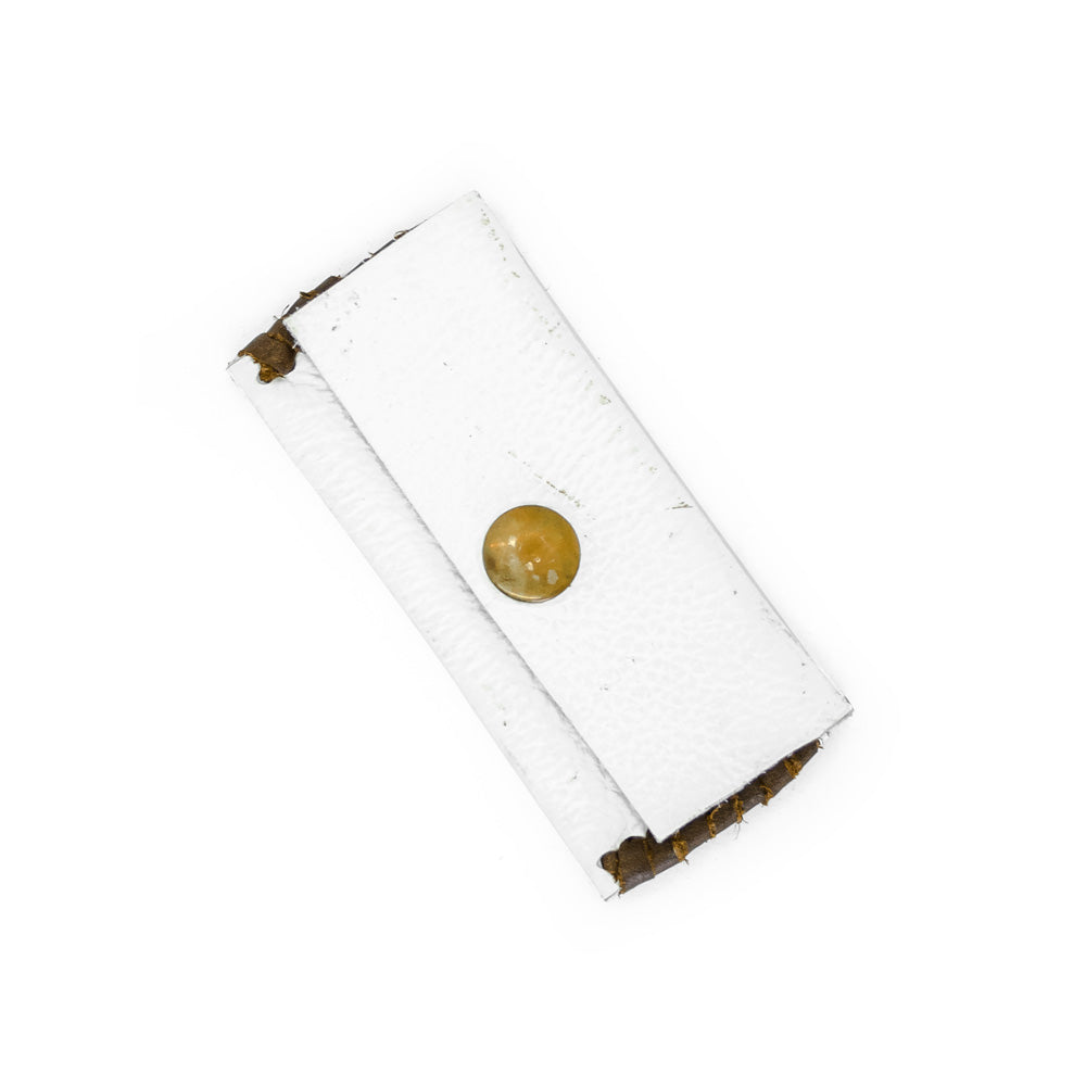 Leather Stash Pouch - White