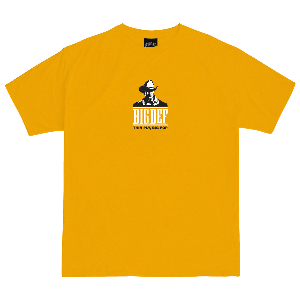Def Mini Mart Big Pop Tee - Gold